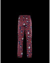 Pantalone con logo di Moncler in Multicolor da Uomo