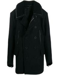 Cappotto corto doppiopetto di Tom Ford in Black da Uomo