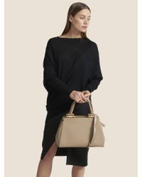 DKNY Black Smooth Leather Medium Satchel