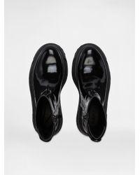 DKNY Black Ainsley Patent Platform Work Boot for men