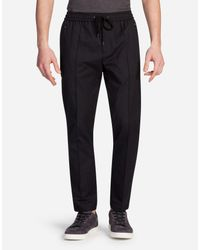 Dolce & Gabbana - Gray Gessato Jogging Pants for Men - Lyst
