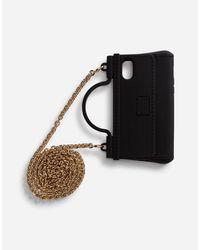 Cover Per Iphone X-Xs Crazy For Sicily In Gomma di Dolce & Gabbana in Black