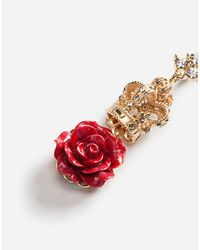 Dolce & Gabbana - Metallic Earrings With Decorative Details - Lyst