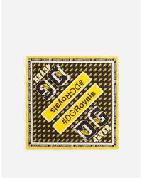 Bandana En Coton Imprimé Dolce & Gabbana pour homme en coloris Yellow