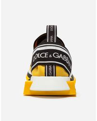 Dolce & Gabbana Yellow Sneakers In Sorrento Graffiti Print for men