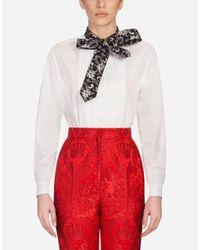 Camicia In Cotone di Dolce & Gabbana in White
