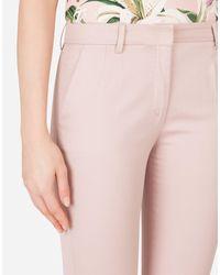 Dolce & Gabbana Pink Gabardinehose Mit Niedrigem Bund