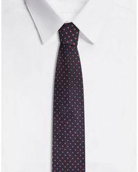 Dolce & Gabbana Tie-Print Silk Jacquard Blade Tie (6 Cm) in Blue für Herren
