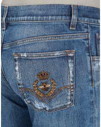 Dolce & Gabbana - Blue Classic Fit Jeans for Men - Lyst