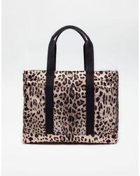 Dolce & Gabbana Multicolor Nylon Nappy Bag With Leo Print