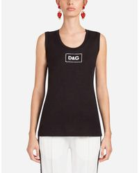 Dolce & Gabbana Black Cotton T-shirt With Patch