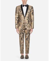 Dolce & Gabbana Smoking-Jacke Aus Lurex-Jacquard in Metallic für Herren