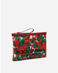 Dolce & Gabbana Red Pochette Aus Canvas Portofino-Print