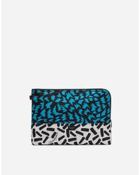 Dolce & Gabbana White Printed Nylon Make-up Bag