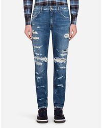 Dolce & Gabbana Blue Martini Fit Jeans for men