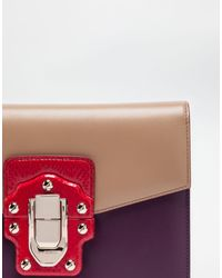 Dolce & Gabbana - Multicolor Lucia Shoulder Bag In Leather And Ayers - Lyst