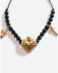 Dolce & Gabbana - Metallic Bracelet With Charms - Lyst