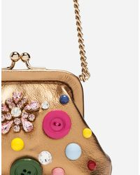 Dolce & Gabbana Multicolor Laminated Leather Cross-body Bag