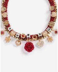 Dolce & Gabbana - Metallic Necklace With Decorative Details - Lyst