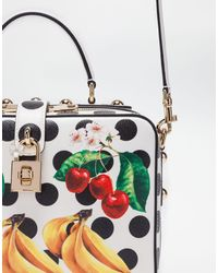 Dolce & Gabbana - White Dolce Soft Bag In Printed Leather - Lyst