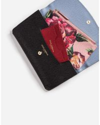 Dolce & Gabbana Pink Leather Multi-functional Wallet