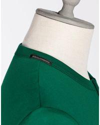 Dolce & Gabbana | Green Cotton Serafino T-shirt for Men | Lyst