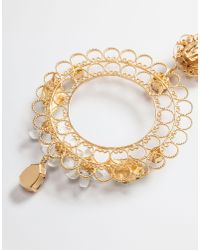 Dolce & Gabbana   Metallic Earrings With Decorative Elements   Lyst