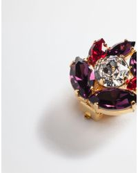 Dolce & Gabbana | Metallic Earrings With Crystals | Lyst