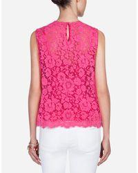 Dolce & Gabbana Pink Spitzentop