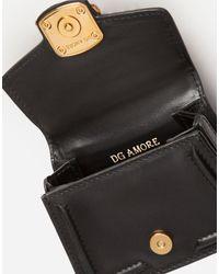 Dolce & Gabbana Black Dg Amore Micro Bag Aus Glattem Kalbsleder