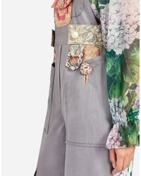 Dolce & Gabbana | Gray Overall In Mix Of Material | Lyst