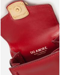 Micro Bag Dg Amore In Vitello Liscio di Dolce & Gabbana in Red