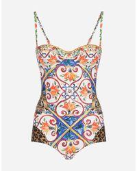 a62a99fbb3 Dolce   Gabbana. Women s Printed Balconette Swimsuit
