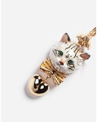 Dolce & Gabbana - Metallic Drop Earrings With Decorative Details - Lyst