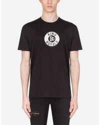 Dolce & Gabbana Cotton T-Shirt With Patch in Black für Herren