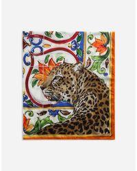 Dolce & Gabbana Multicolor Printed Cotton Sarong 110 X 190