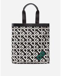Dolce & Gabbana Tasche Aus Nylon Print Dg Logo in Black für Herren