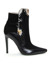 Donald J Pliner | Black Signature Tapestry Haircalf Booties | Lyst