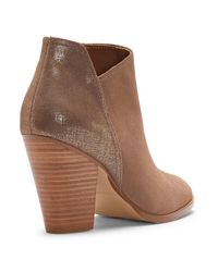 Donald J Pliner | Brown Sport Suede And Distressed Metallic Boot | Lyst