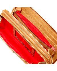Dooney & Bourke Multicolor Pebble Grain Double Zip Wallet