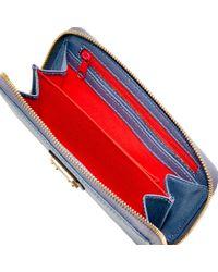Dooney & Bourke Red Saffiano Zip Around Phone Wristlet