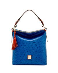 Dooney & Bourke - Blue Ostrich Small Sloan Bag - Lyst