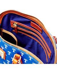 Dooney & Bourke - Blue Mlb Rangers Zip Zip Satchel - Lyst