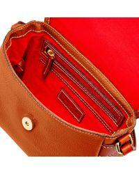 Dooney & Bourke - Multicolor Pebble Grain Flap Crossbody Shoulder Bag - Lyst