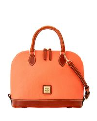 Dooney & Bourke Multicolor Pebble Grain Zip Zip Satchel