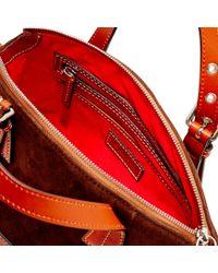 Dooney & Bourke Red Suede Mini Trina Satchel