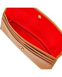Dooney & Bourke Brown Wexford Leather Slim Continental Clutch