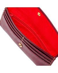 Dooney & Bourke Red Saffiano Slim Continental Clutch