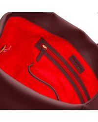 Dooney & Bourke Red Belvedere Logo Lock Shoulder Bag
