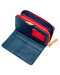 Dooney & Bourke Blue Patterson Leather Zip Around Organizer